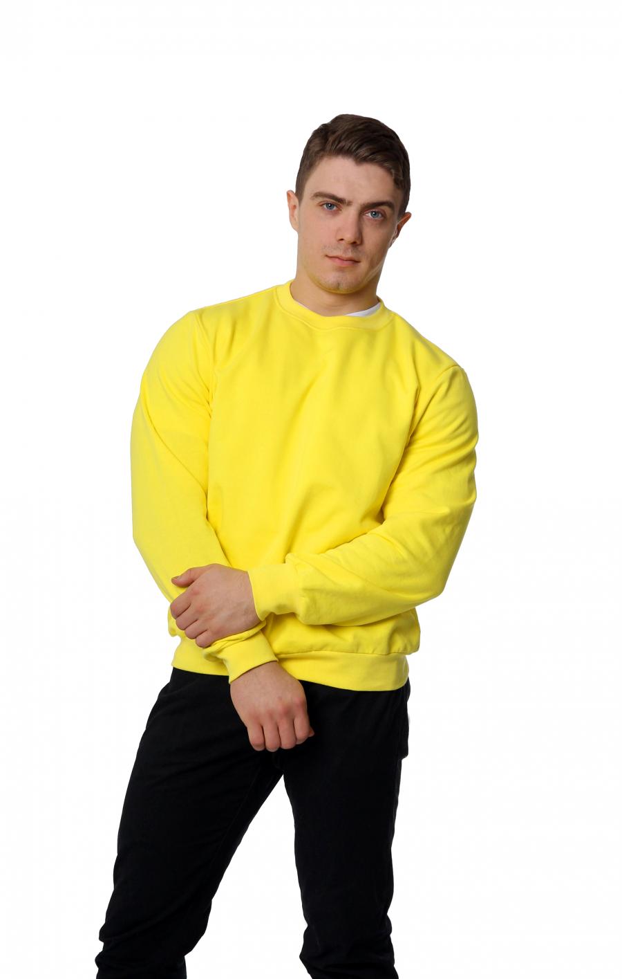 Свитшот  KANO Warm 190 M желтый купить оптом,