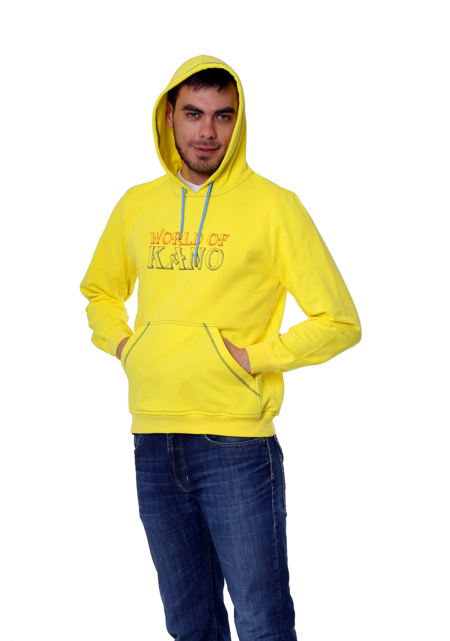 Толстовка KANO Style 260 M желтая купить оптом,