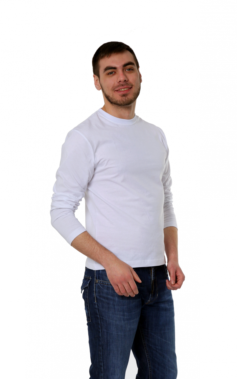 Футболка KANO Long M с длинным рукавом, белая купить оптом,