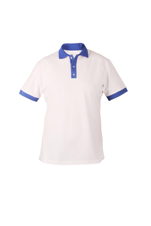 Рубашка-поло KANO Duet M цвет: белый/василек купить оптом,