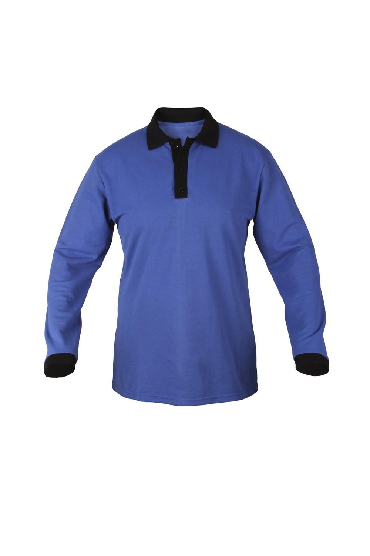 Рубашка-поло KANO Duet Long M цвет: василек/черный купить оптом,
