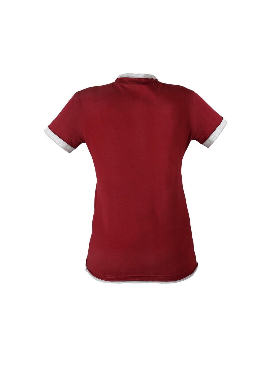 Футболка KANO Double 145 W цвет: бордо/серый купить оптом,