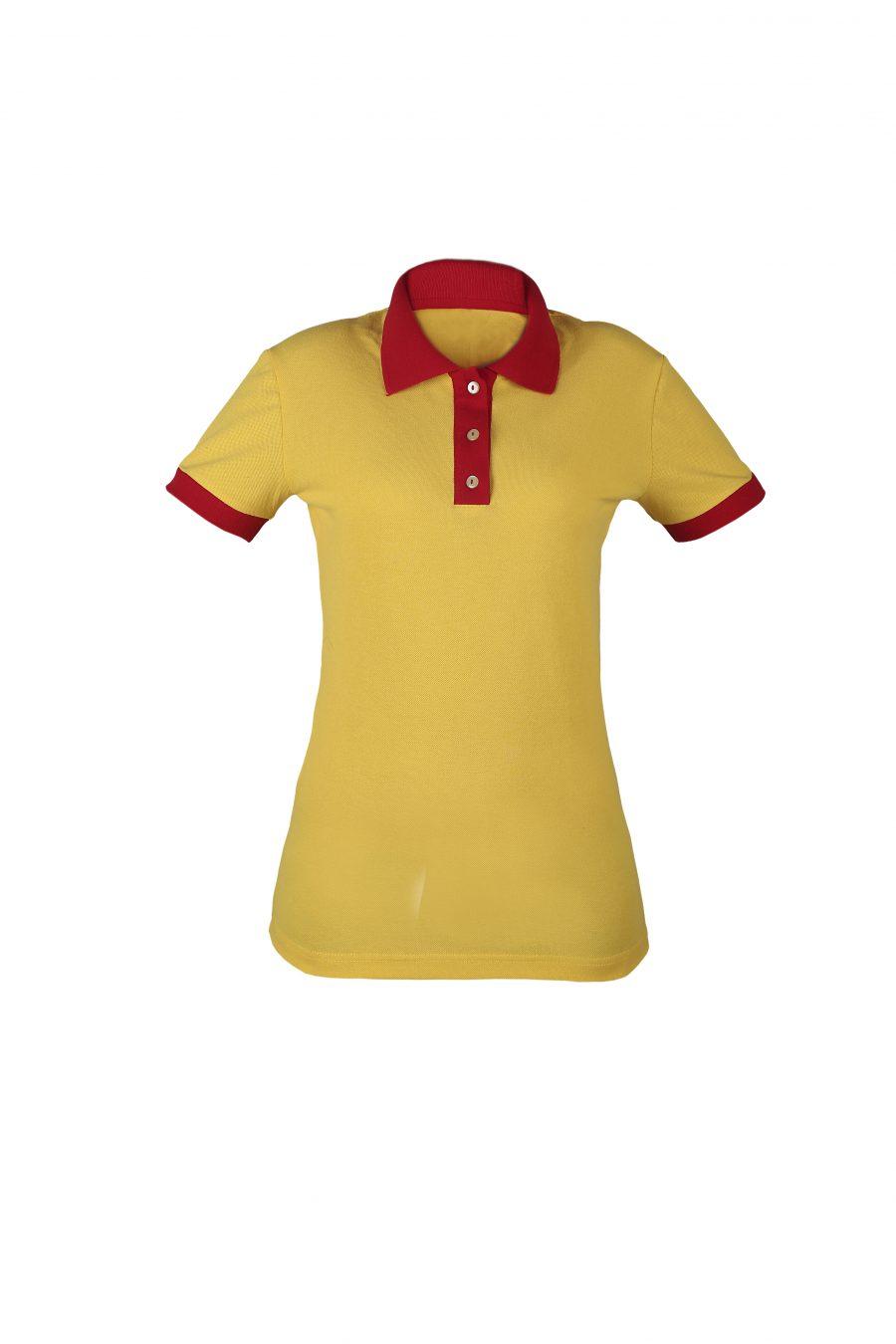 Рубашка-поло KANO Duet W цвет: желтый/красный купить оптом,
