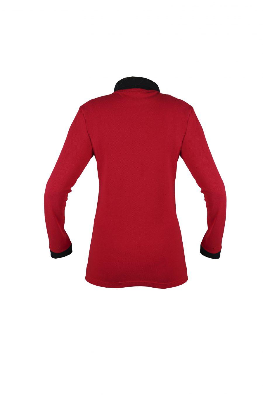 Рубашка-поло KANO Duet Long W красно-черная купить оптом,
