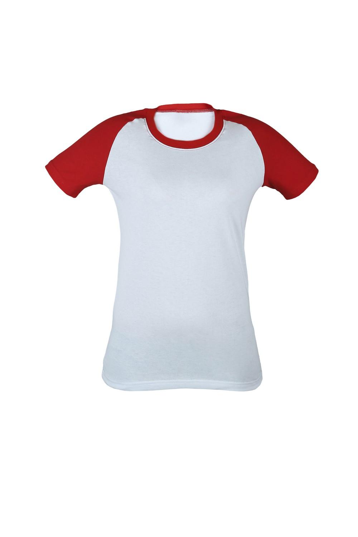 Футболка KANO Reglan 145 W цвет: белый/красный купить оптом,