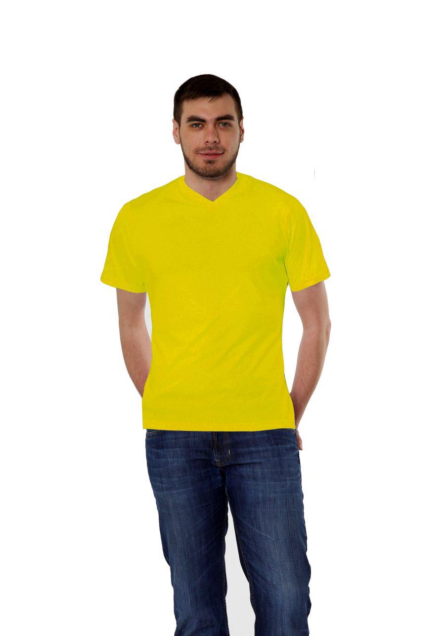 Футболка KANO Win 145 M желтая купить оптом,