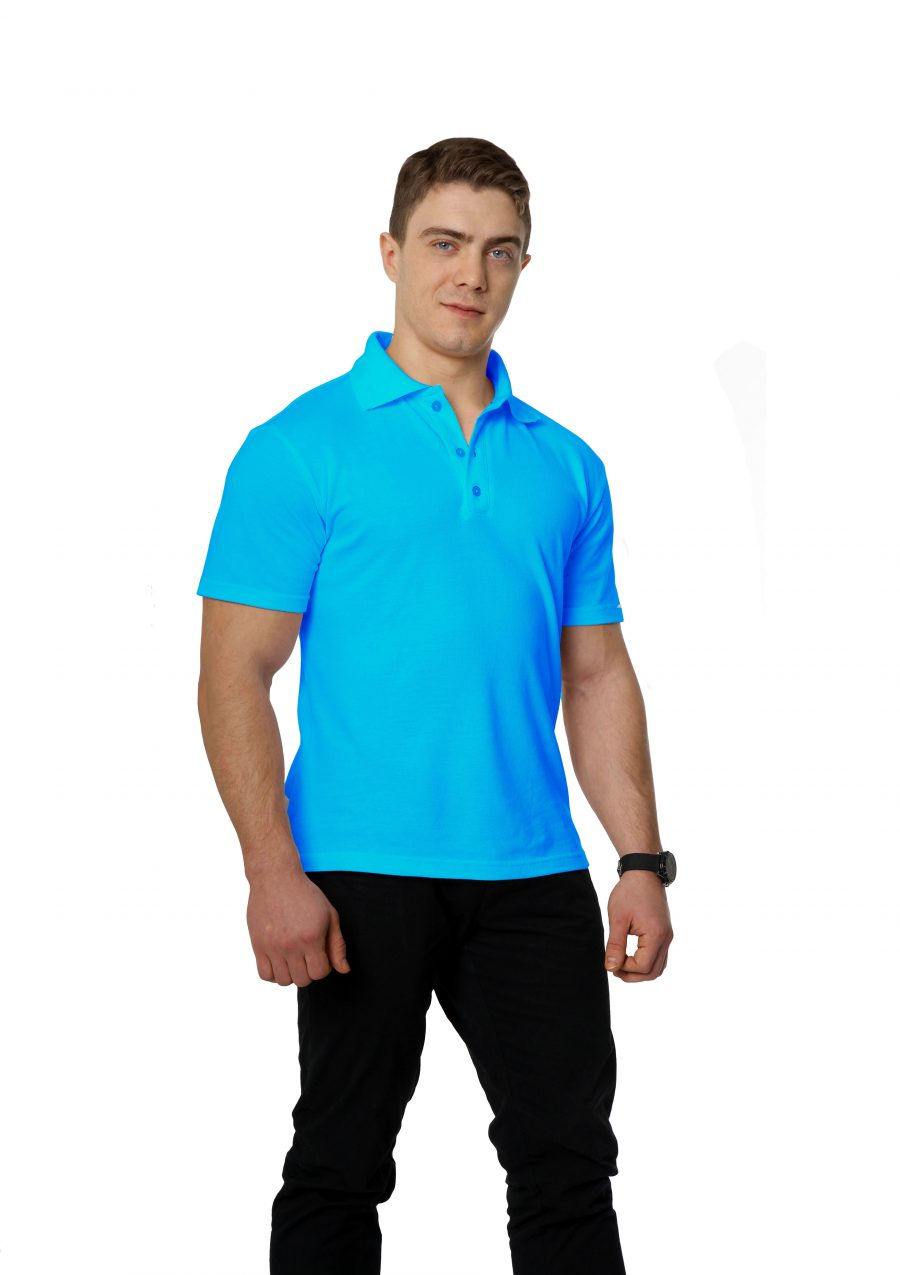 Рубашка-поло KANO M бирюзовая купить оптом,