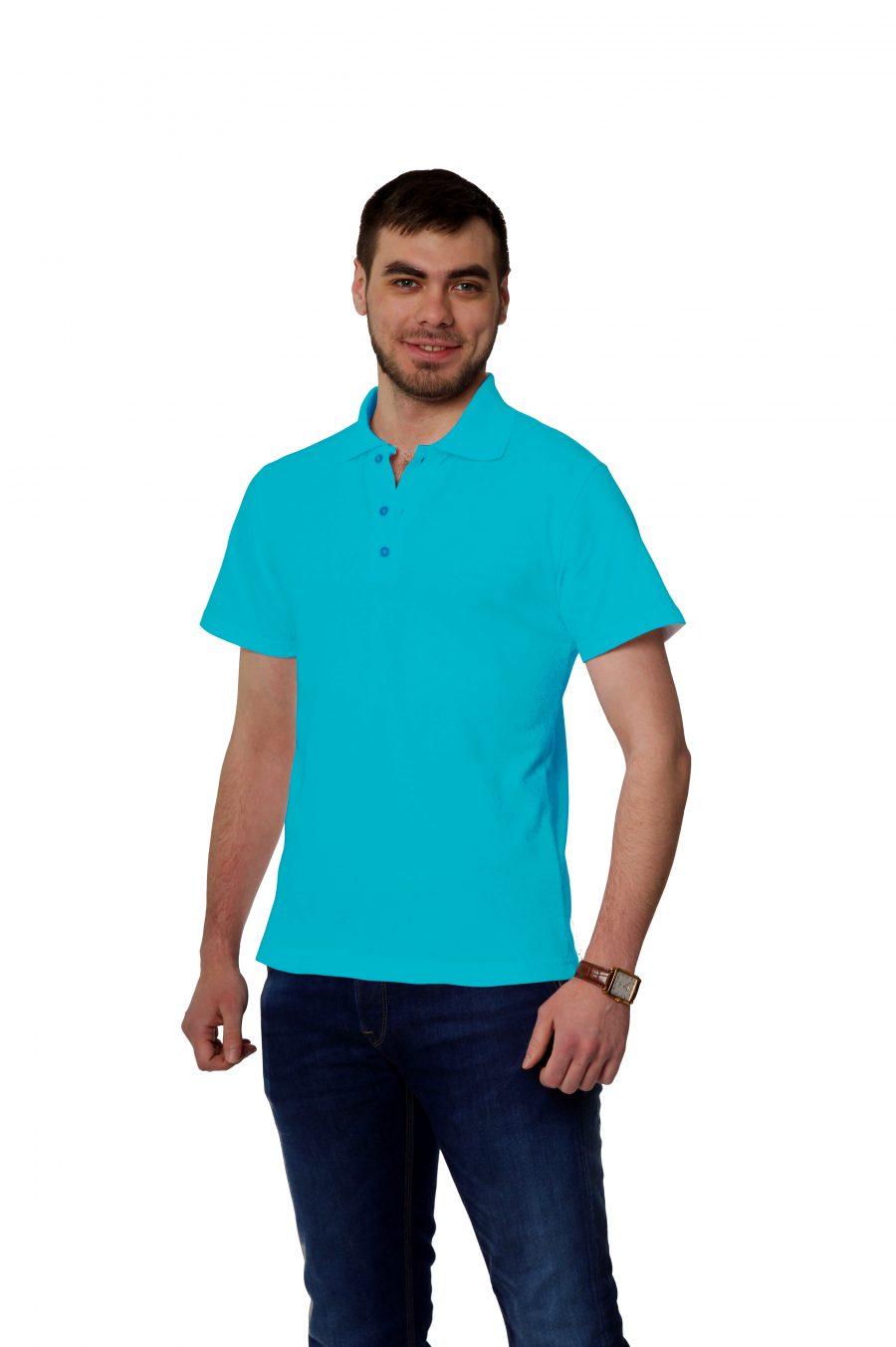 Рубашка-поло KANO MP бирюзовая купить оптом,