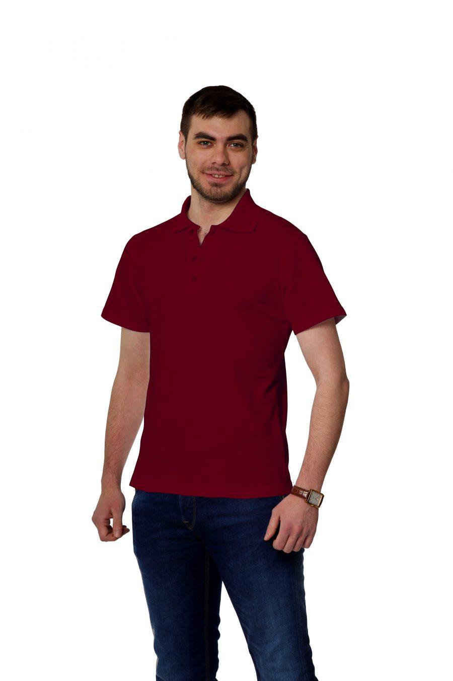 Рубашка-поло KANO MP цвет: бордо купить оптом,