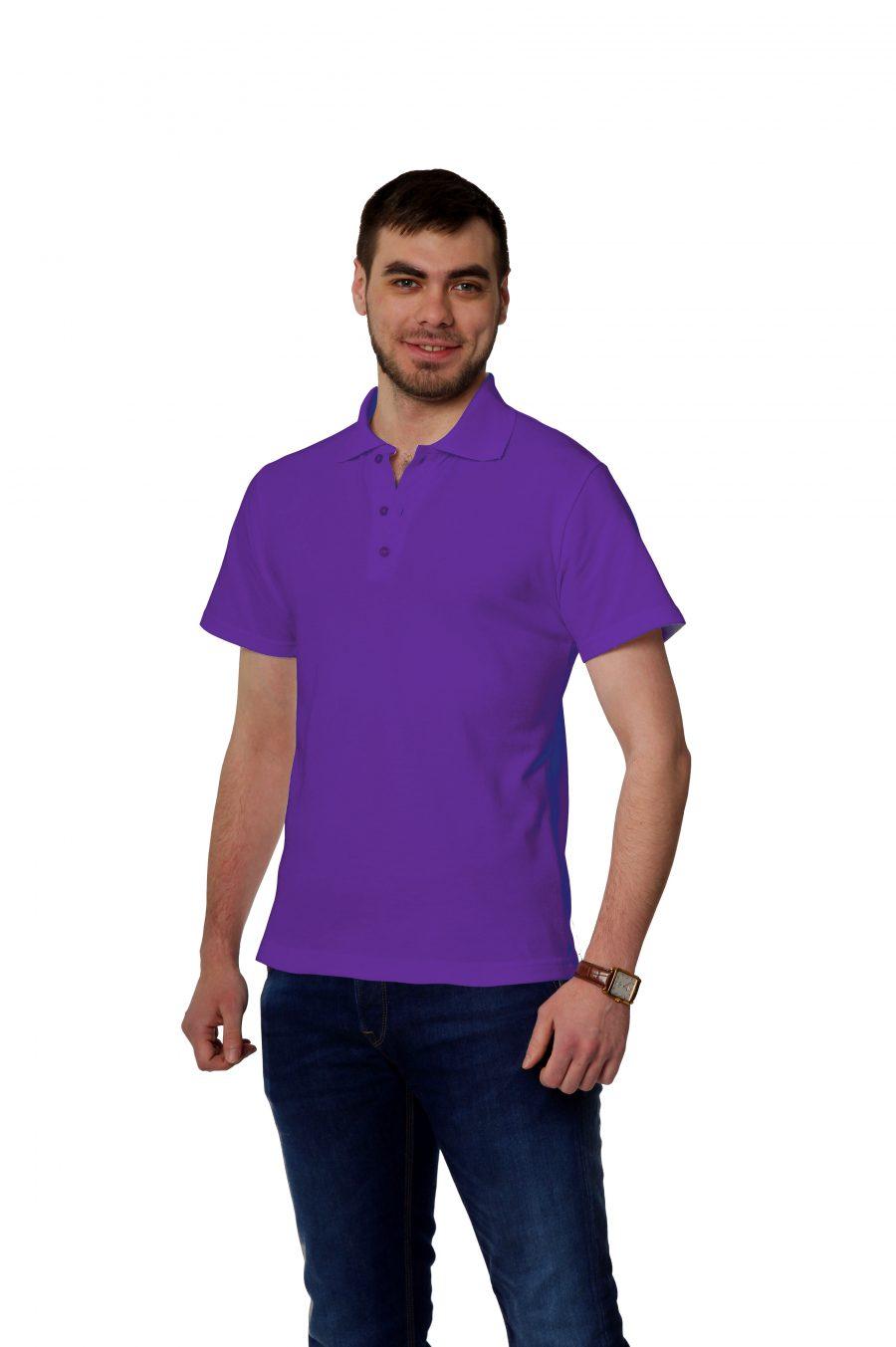 Рубашка-поло KANO MP фиолетовая купить оптом,