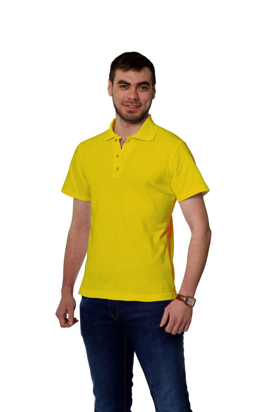 Рубашка-поло KANO MP желтая купить оптом,