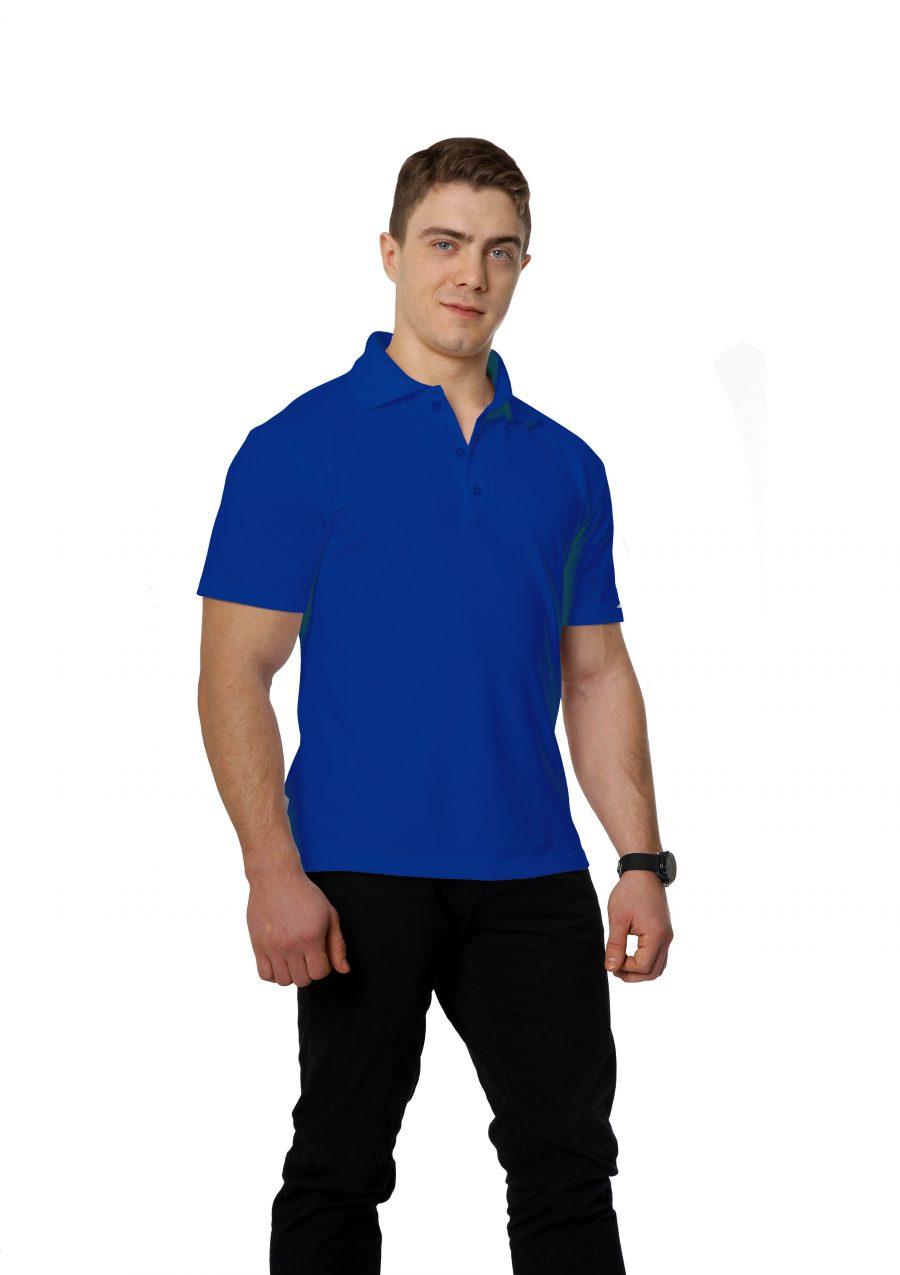 Рубашка-поло KANO M васильковая купить оптом,