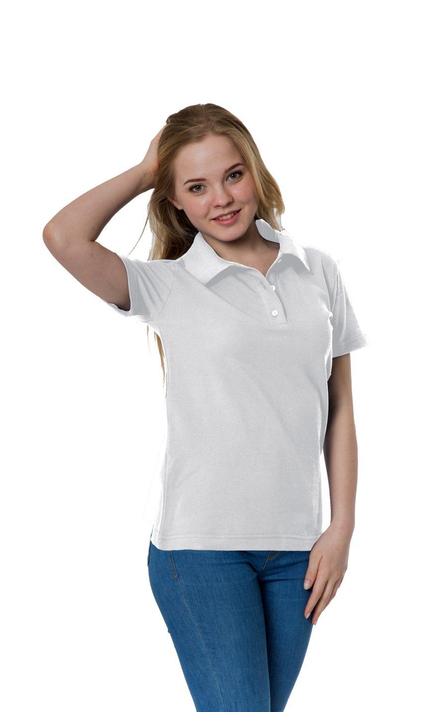 Рубашка-поло KANO W белая купить оптом,