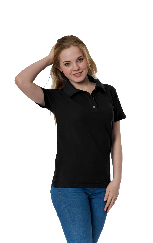 Рубашка-поло KANO W черная купить оптом,