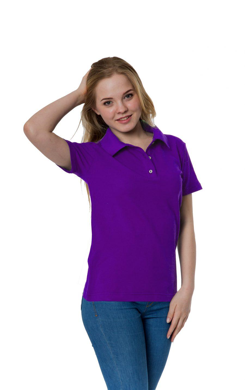 Рубашка-поло KANO W фиолетовая купить оптом,
