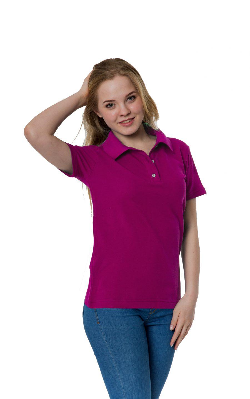 Рубашка-поло KANO W цвет: фуксия купить оптом,