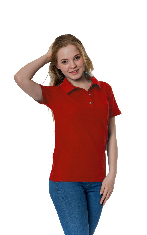 Рубашка-поло KANO W красная купить оптом,