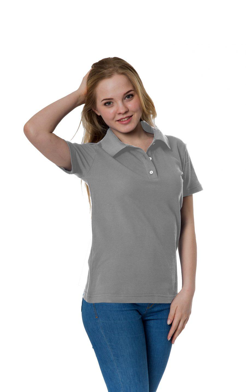 Рубашка-поло KANO W светло-серая купить оптом,