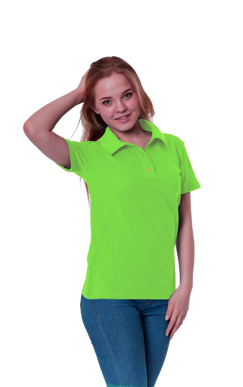 Рубашка-поло KANO W цвет: зеленое яблоко купить оптом,