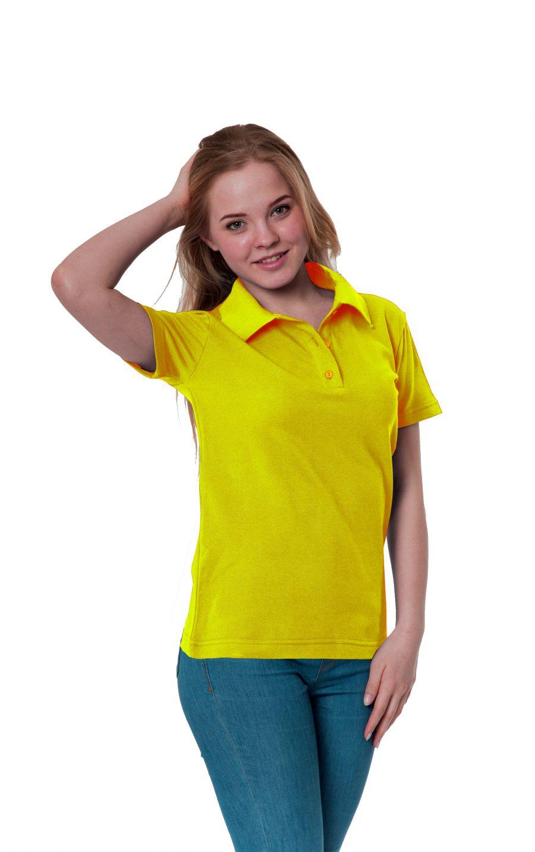 Рубашка-поло KANO W желтая купить оптом,
