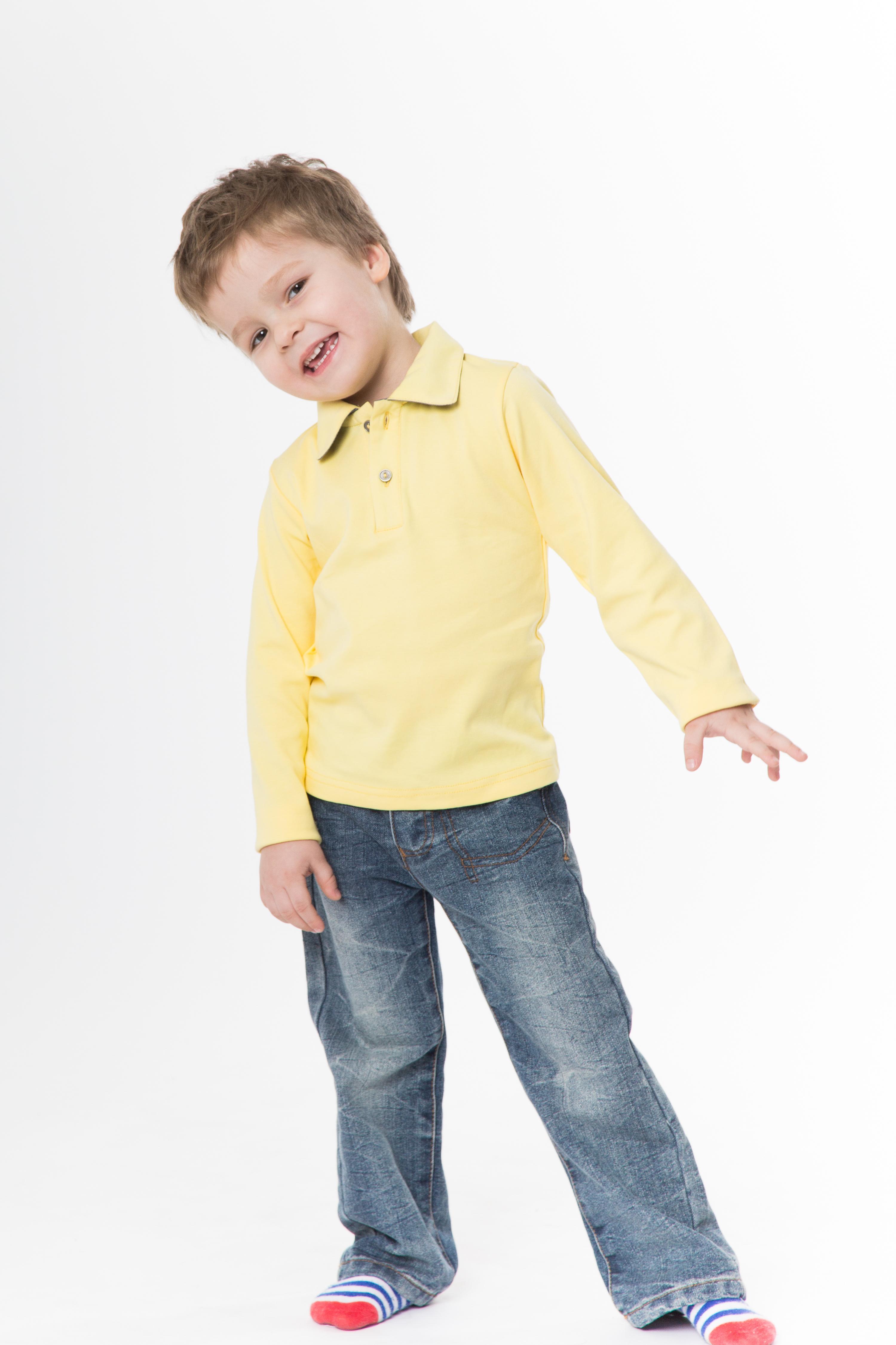 Рубашка-поло KANO Longsleave D желтая купить оптом,